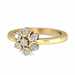 Diamond Ring Designs For Female Natural Round Certified Diamond 0.21 Ct Solid Gold  Festive