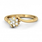 Diamond Ring For Ladies Natural Round Certified Diamond 0.18 Ct Solid Gold  Weekend