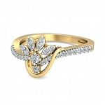 Diamond Ladies Ring Natural Round Certified Diamond 0.3 Ct Solid Gold  Workwear