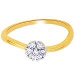 Diamond Ring Designs For Female Natural Round Certified Diamond 0.15 Ct Solid Gold  Office Wear