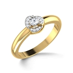 Beautiful Diamond Rings Natural Round Certified Diamond 0.12 Ct Solid Gold  Party