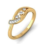 Diamond Ladies Ring Natural Round Certified Diamond 0.2 Ct Solid Gold  Festive