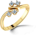 Diamond Ladies Ring Natural Round Certified Diamond 0.16 Ct Solid Gold  Party