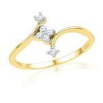 Buy Diamond Ring Online Natural Round Certified Diamond 0.15 Ct Solid Gold  Workwear
