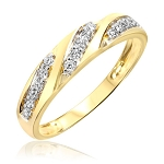 Diamond Ladies Ring Natural Round Certified Diamond 0.32 Ct Solid Gold  Workwear