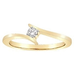 Diamond Gold Ring Natural Round Certified Diamond 0.1 Ct Everyday