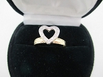 0.25 Ct Natural Diamond 14K Yellow Gold Heart Wedding Ring