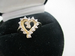 0.40 Ct Ij-Si2 Natural Diamond 14K Yellow Gold Heart Ring