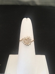 0.32 Ct Natural Diamond 14K Solid Yellow Gold Heart Ring