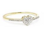 0.60 Ct Natural Diamond 14K Solid Yellow Gold Heart Shape Ring