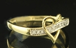 0.30 Ct Hi-Si2 Natural Diamond 14K Gold Heart Shape Ring