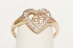 0.50 Ct Natural Diamond 14K Solid Gold Heart Shape Ring