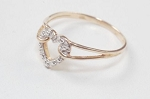 0.30 Ct Natural Diamond 14K Solid Gold Heart Shape Wedding Ring