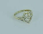 1.00 Ct Natural Diamond 14K Gold Heart Shape Anniversary Ring