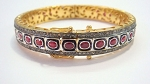 Antique Diamond Bracelet 4.8 Ct Natural Certified Diamond 4.2 Ct Ruby 925 Sterling Silver Wedding