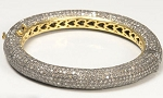 Rose Cut Diamond Bracelet 20 Ct Natural Certified Diamond 925 Sterling Silver Everyday