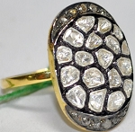 Victorian Rings 2.1 Ct Natural Certified Diamond 925 Sterling Silver Festive