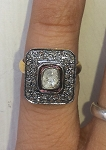 Vintage Diamond Wedding Rings 1.4 Ct Natural Certified Diamond 925 Sterling Silver Party