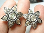 Victorian Diamond Earrings 1.9 Ct Natural Certified Diamond Ct 925 Sterling Silver Party