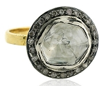 Antique Diamond Engagement Rings 0.97 Ct Natural Certified Diamond 925 Sterling Silver Office Wear