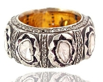 Vintage Diamond Wedding Rings 3.2 Ct Natural Certified Diamond 925 Sterling Silver Party