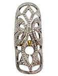 Vintage Art Deco Rings 1.35 Ct Natural Certified Diamond 925 Sterling Silver Workwear