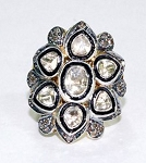 Antique Style Engagement Rings 1.4 Ct Natural Certified Diamond 925 Sterling Silver Party