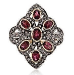 Vintage Wedding Ring 1.9 Ct Natural Certified Diamond 0.15 Ct Ruby 925 Sterling Silver Workwear