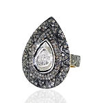 Antique Style Diamond Engagement Rings 1.98 Ct Natural Certified Diamond 925 Sterling Silver Workwear