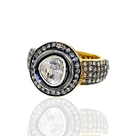 Vintage Inspired Wedding Rings 2.3 Ct Natural Certified Diamond 925 Sterling Silver Special Occasion