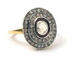 Victorian Style Wedding Rings 1.75 Ct Natural Certified Diamond 925 Sterling Silver Anniversary
