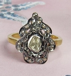 Victorian Rings 0.55 Ct Natural Certified Diamond 925 Sterling Silver Festive