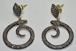 Victorian Earrings 4.85 Ct Natural Certified Diamond 925 Sterling Silver Anniversary