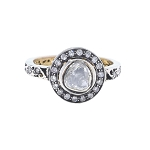 Vintage Wedding Ring 0.81 Ct Natural Certified Diamond 925 Sterling Silver Workwear