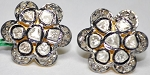 Uncut Earrings 2.48 Ct Natural Certified Diamond 925 Sterling Silver Anniversary