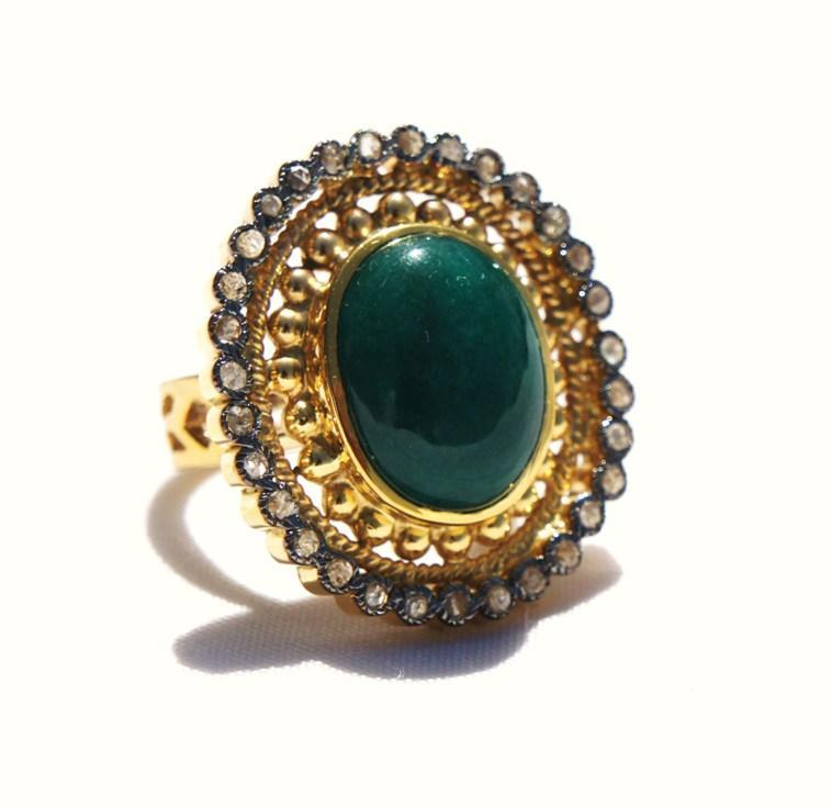 antique looking rings 1 ct 2 8 ct emerald silver