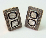 Vintage Diamond Earrings 2.42 Ct Natural Certified Diamond 925 Sterling Silver Weekend