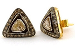 Antique Drop Earrings 1.35 Ct Natural Certified Diamond 925 Sterling Silver Office Wear