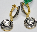 Antique Diamond Earrings 1.50 Ct Natural Certified Diamond 925 Sterling Silver Party