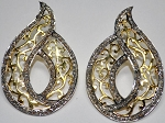 Vintage Diamond Earrings 2.62 Ct Natural Certified Diamond 925 Sterling Silver Workwear