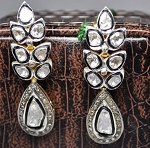 Art Deco Earrings 2.1 Ct Natural Certified Diamond 925 Sterling Silver Everyday