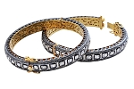 Victorian Bracelet 13.68 Ct Natural Certified Diamond 925 Sterling Silver Workwear