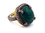Antique Looking Wedding Rings 1.8 Rose Cut Natural Certified Diamond Emerald 925 Sterling Silver Everyday