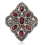 Polki Rings 1.2 Rose Cut Natural Certified Diamond Ruby 925 Sterling Silver Anniversary