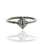 Victorian Rings For Sale 0.48 Rose Cut Natural Certified Diamond 925 Sterling Silver Wedding
