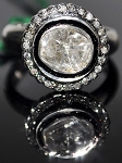 Uncut Ring 1.18 Rose Cut Natural Certified Diamond 925 Sterling Silver Wedding