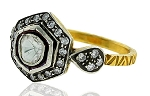 Vintage Diamond Wedding Rings 1.02 Rose Cut Natural Certified Diamond 925 Sterling Silver Party