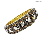 Antique Bracelets 8.8 Ct Natural Certified Diamond 925 Sterling Silver Jewelry Party