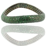 Uncut Diamond Bracelet 0 Ct Natural Certified Diamond Emerald 925 Sterling Silver Jewelry Anniversary