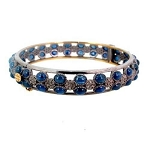 Victorian Bracelet 3 Ct Natural Certified Diamond Blue Sapphire 925 Sterling Silver Everyday